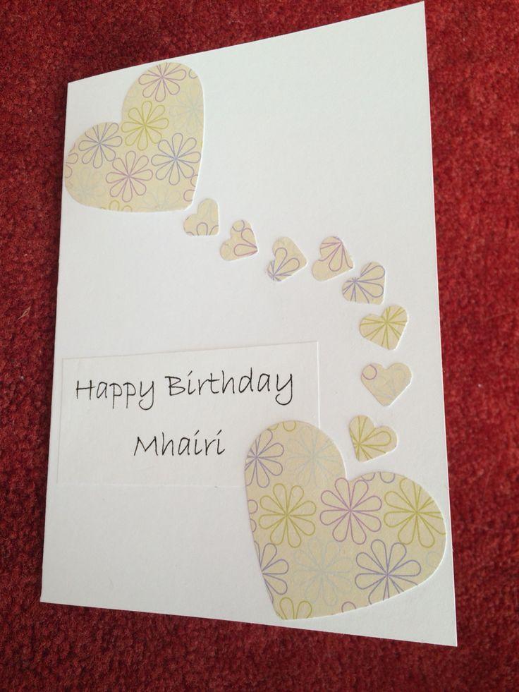 Handmade Birthday Card for my Sister-in-law Mhairi (2015)