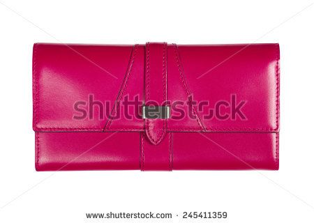Pink bag is insulated on white background