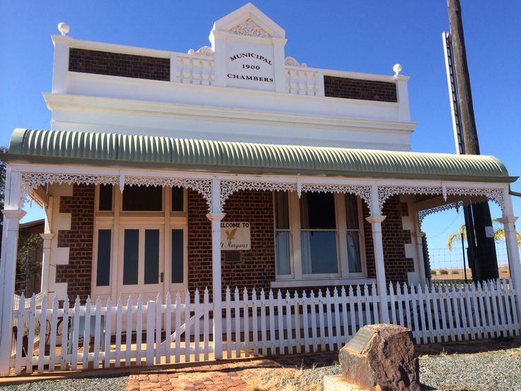 Site 11 - Mt Morgan's beautiful Municipal Chambers still standing built 1900, with no other building around.