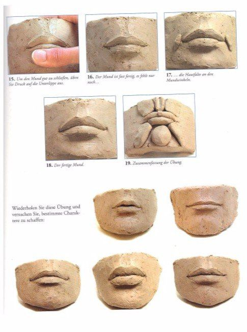 how to make a mouth out of clay