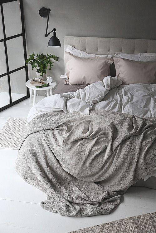 Grey bedroom via Trendenser
