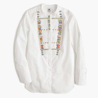 Collection Thomas Mason® for J.Crew crystal tux shirt - Shop for women's Shirt - navy Shirt