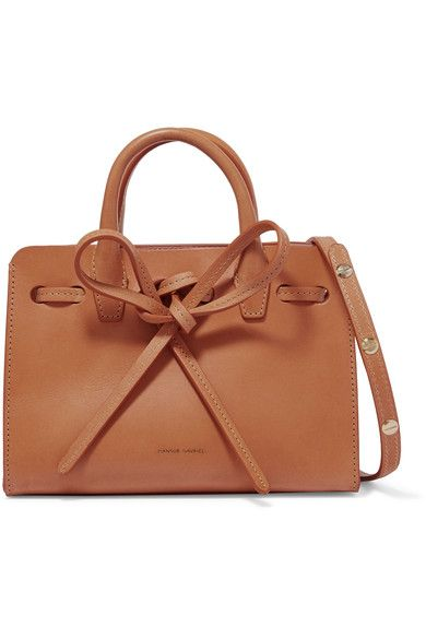 Camel leather Open top Due to the delicate nature of the material, natural veining and marks may occur Made in Italy