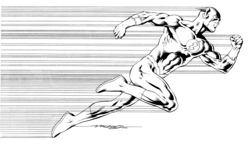The Flash is a fictional comic book superhero from the DC Comics universe. Description from imgarcade.com. I searched for this on bing.com/images