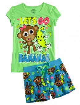 LET'S GO BANANAS PAJAMA SET | GIRLS PAJAMAS  ROBES PJS, BRAS  PANTIES | SHOP JUSTICE