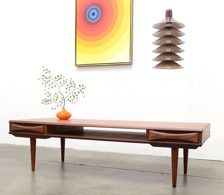 1950s danish modern arne vodder teak coffee table mid century vintage
