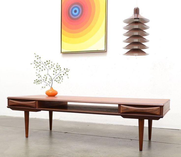 1950s Danish Modern Arne Vodder TEAK Coffee Table Mid Century Vintage  #DanishModern