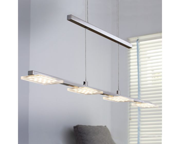 Lustr LED  WOFI WO 7613.04.64.0000 (DARWIN) Závěsné svítidlo - lustr, navržené na efektivní produkci světla vrámci celé místnosti #design, #consumer, #functional, #lustry, #chandelier, #chandeliers, #light, #lighting, #pendants #světlo #svítidlo #wofi #lustr #led