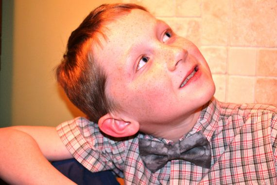 Boys Bow Tie. Baby Bow Tie. Toddler Bow Tie: Marbled Grey Bow Tie by ButtercupLullabies $14.95