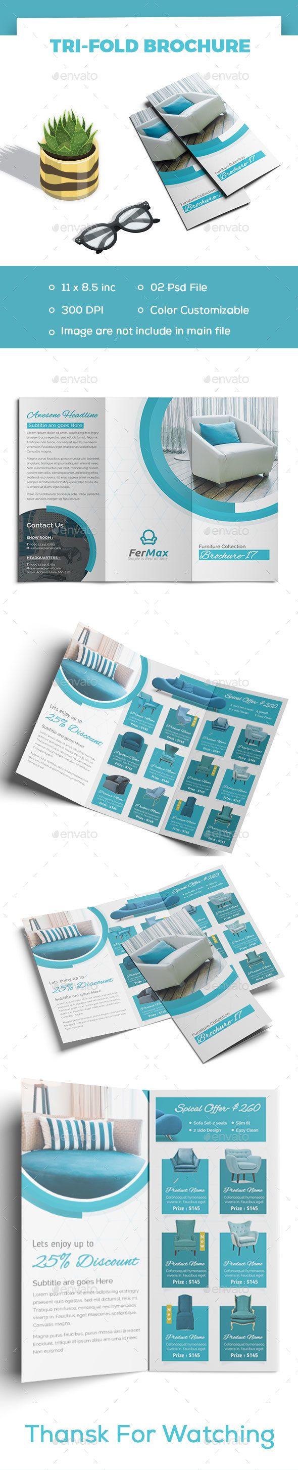 #Furniture Tri-fold - #Brochures Print #Templates Download here: https://graphicriver.net/item/furniture-trifold/19513000?ref=alena994