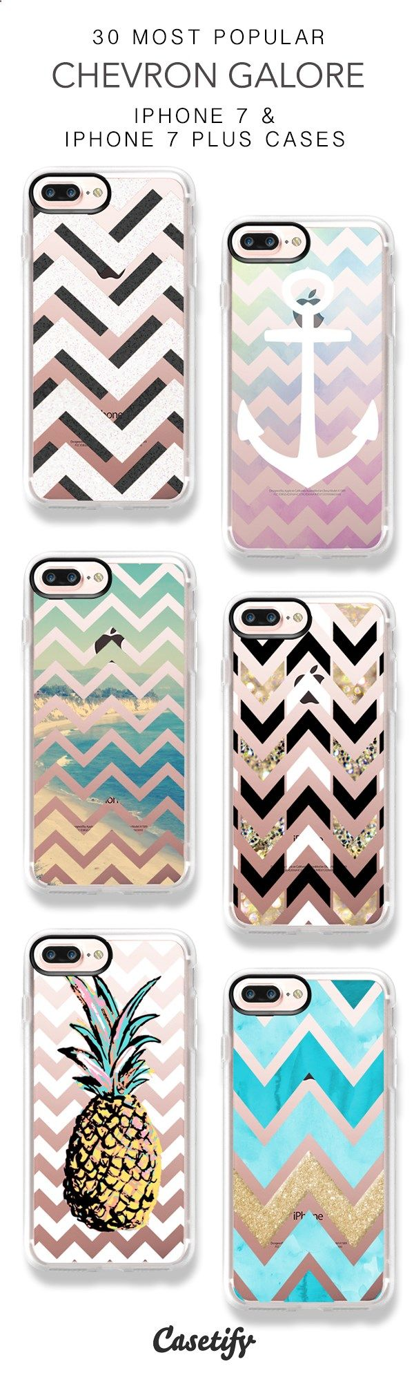 Phone Cases - 30 Most Popular Chevron Galore Protective iPhone 7 Cases and iPhone 7 Plus Cases. More Pattern iPhone case here > www.casetify.com/... http://amzn.to/2rsh3Be