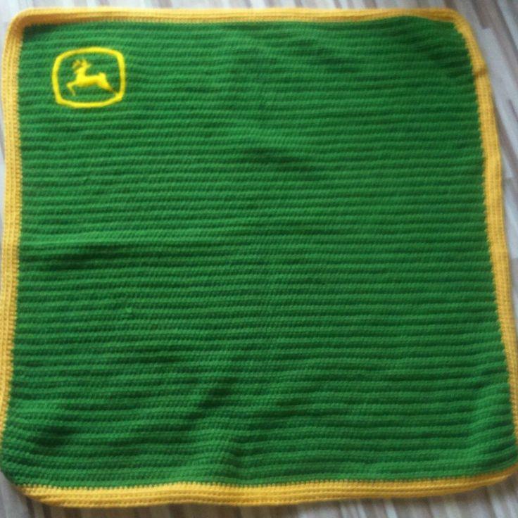 Crochet Blanket For John Deere Fan My Crochet Pinterest John Deere Fans And