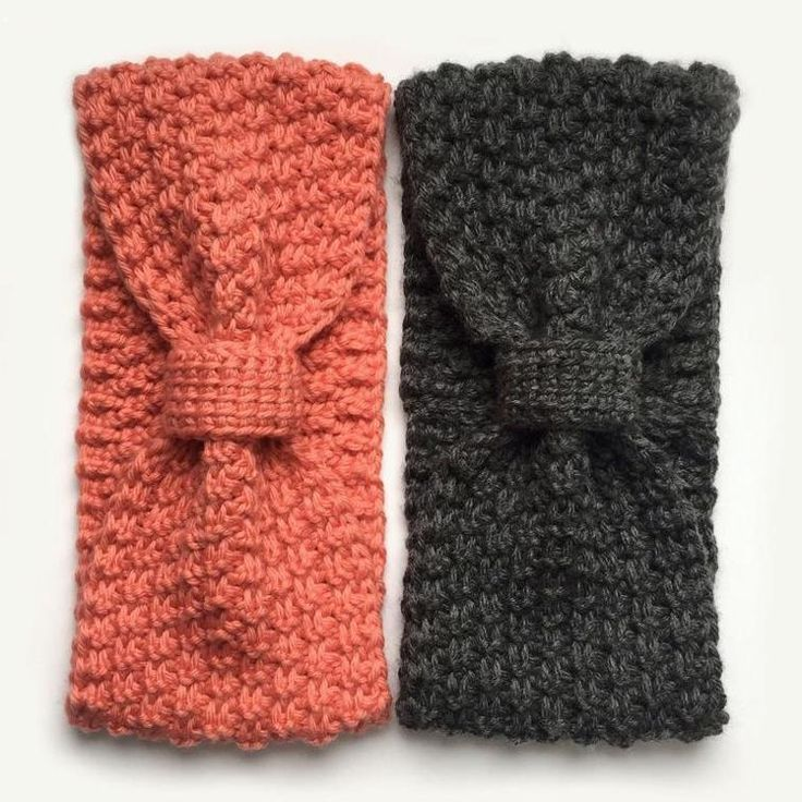 Knotted Tunisian Crochet Headwrap - Crochet Pattern Protect those ears from the wind and chill! This head wrap is perfect for every age group from small child to adult. One size fits all (but sizing can be adjusted if need be). | crochet headband pattern | crochet easy headband pattern | headband patterns to crochet | (aff link)