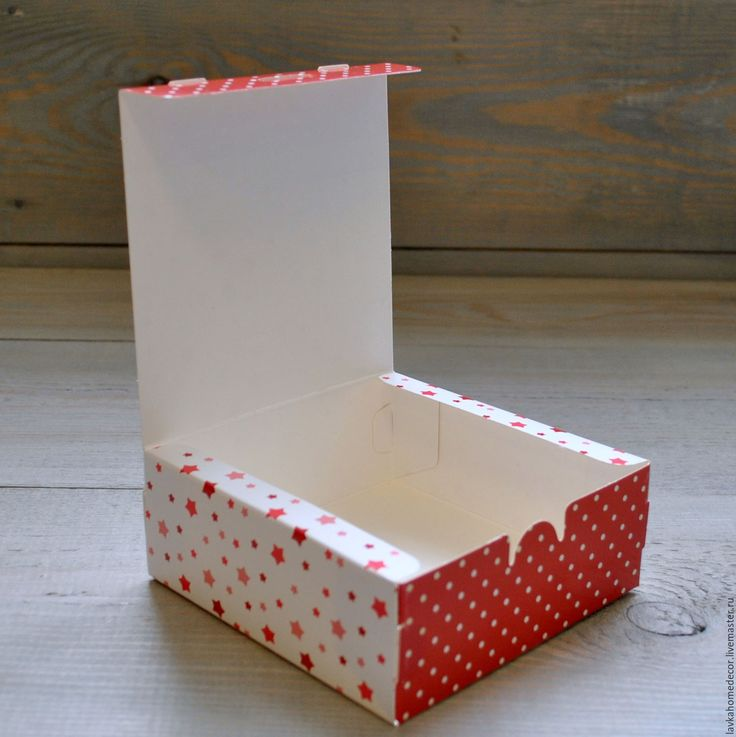 Купить Коробка Звезды 14х14х5см, 2670 - коробка, коробка картон, коробка картонная, коробка упаковка