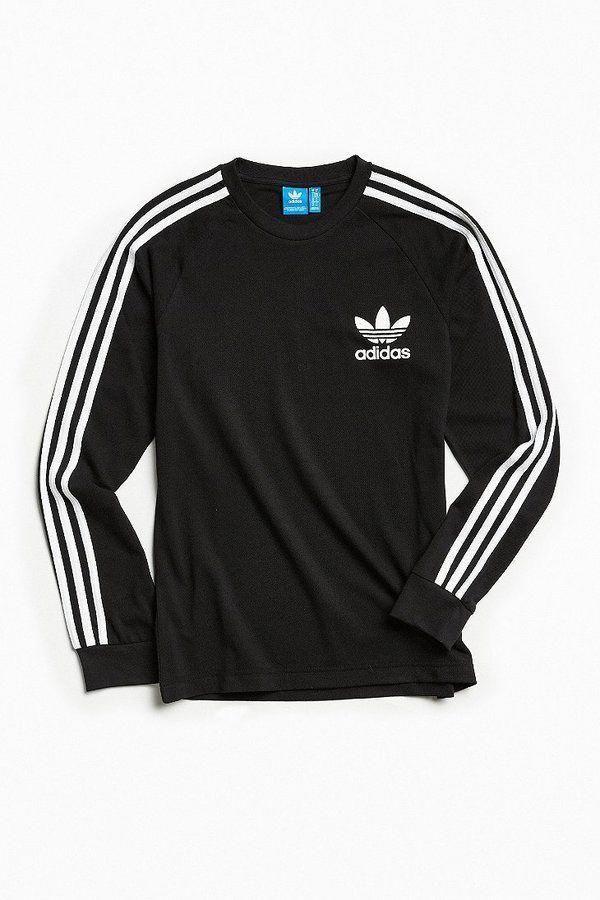 2017 adidas Originals 3 Stripes Long Sleeve Camiseta Mujer