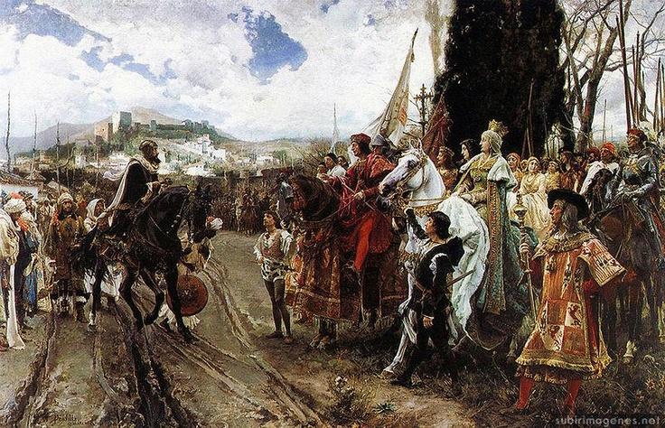 6 de enero de 1492.  la rendición de Boabdil pone punto y final al predominio musulmán en al-Andalus