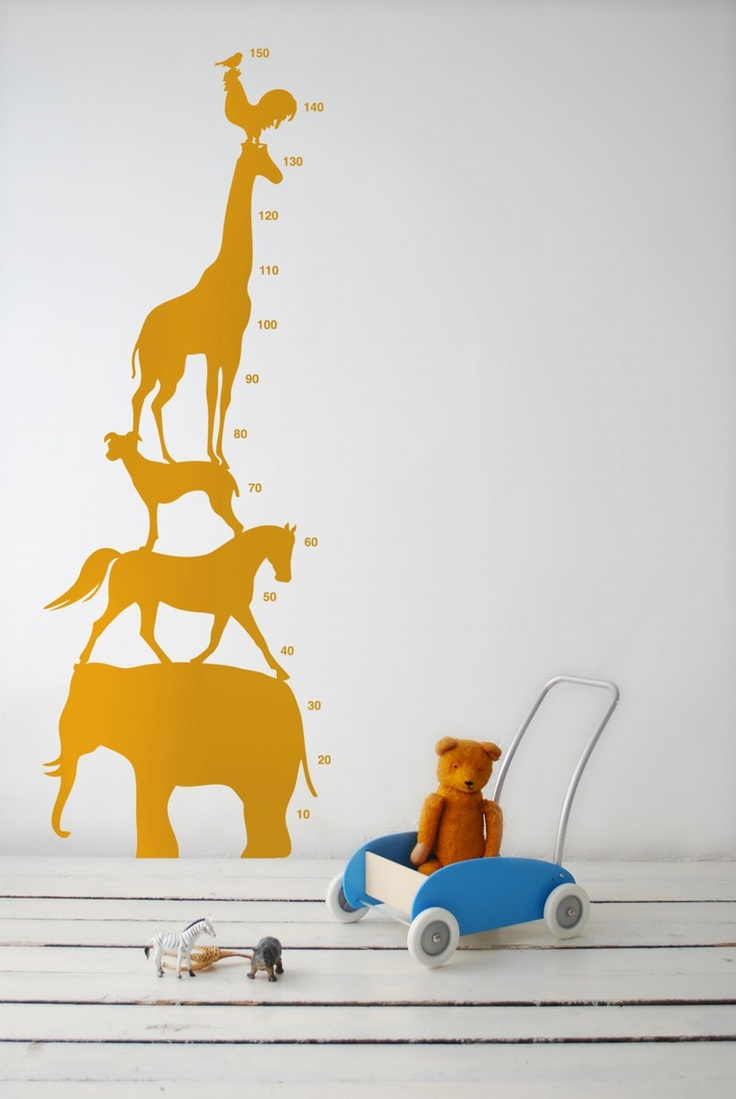 105 best decal images on pinterest decal wall stickers and decals animal tower wall decal in blue children s growth chart from ferm living s wall sticker collection for kids modern graphic and cute