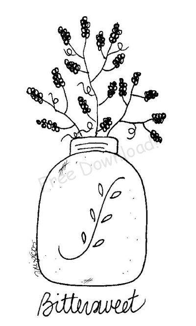 Free Bittersweet Jar Pattern