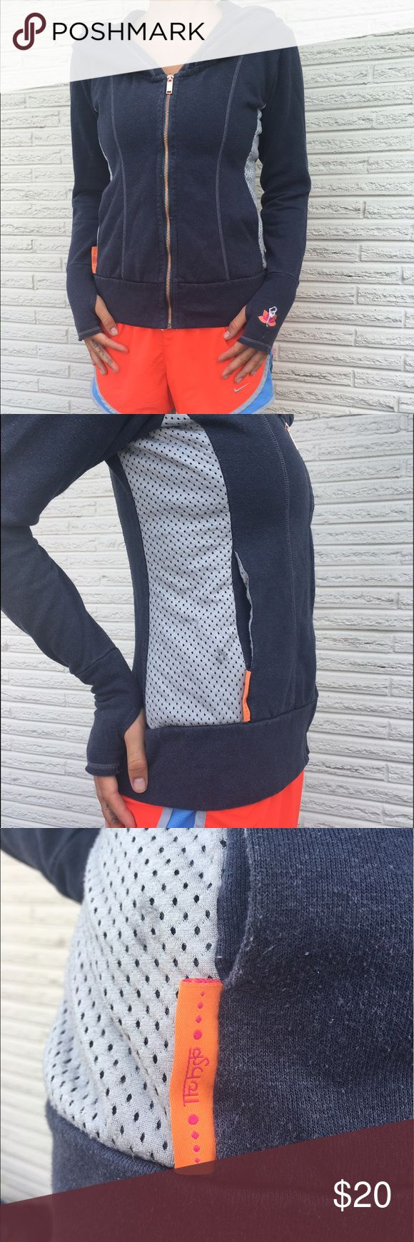 Yoga hoodie- nutti yogini Yoga clothing brand. Nutti Yogini hoodie. Super cute and cozy.  Offers and trades welcome! Also anything in my closet can be made into one order!  Beyond Yoga Tops Sweatshirts & Hoodies