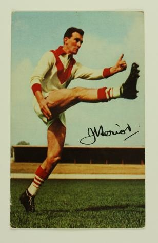 Football Card - John Heriot, South Melbourne, Mobil VFL Football Photos Series, 1965