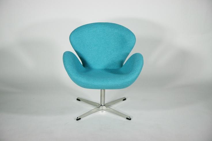スワンチェア 北欧デザイン ファブリック SKY BLUE