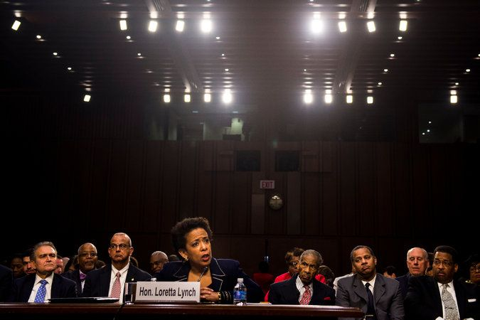 Senate confirms Loretta Lynch to be attorney general. She is the first African-American woman to hold the position.