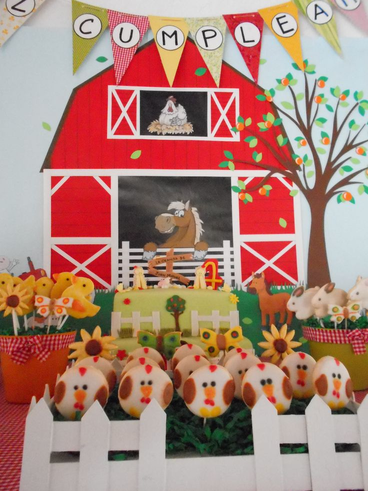 10 best images about mesa tematica granja on pinterest - Decoracion cumpleanos nino 6 anos ...