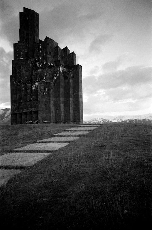 Monument to the battle of bash-aparan [r. israelyan] armenia, 1979