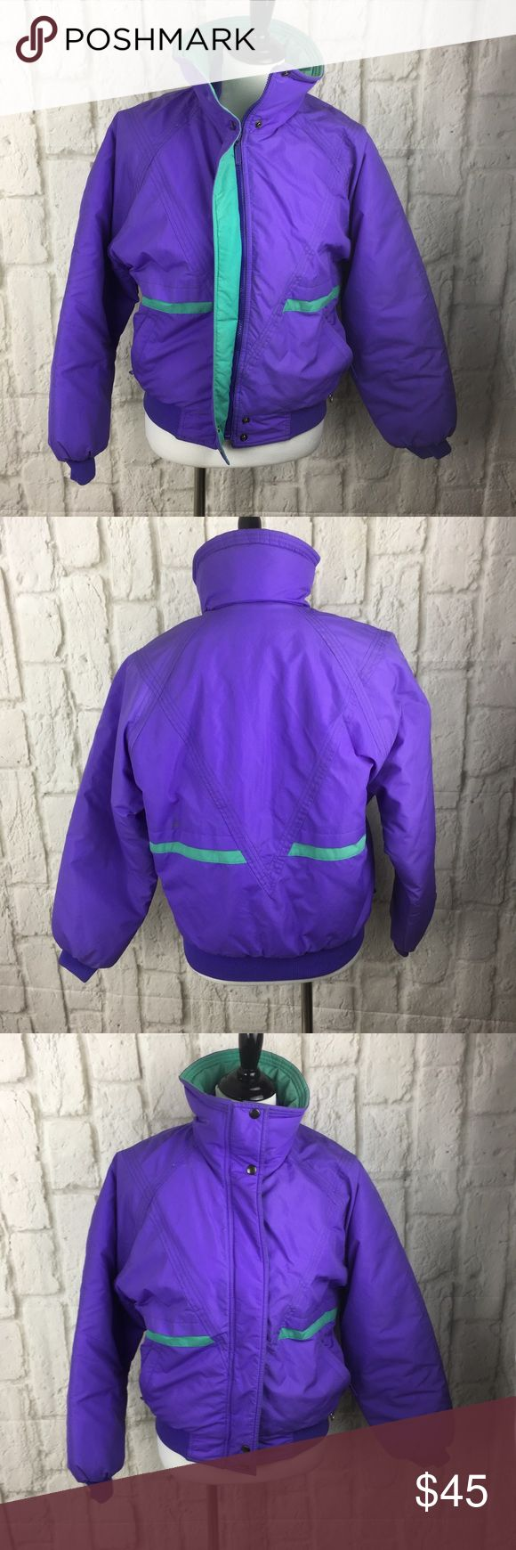 Liberty bell vintage ski jacket EUC Liberty bell purple and real ski jacket soooooi saved by the bell.....Miami vice gone ski school 😜 liberty bell Jackets & Coats Puffers
