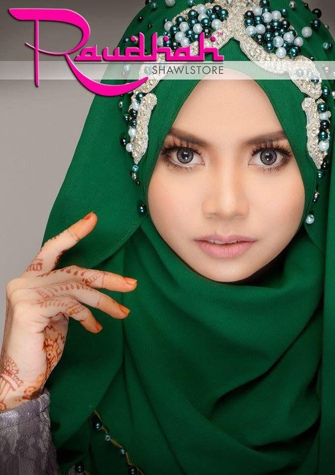 Wedding Hijab #darkgreen #garden #awesome #muslimwedding http://weddinghijab.blogspot.com/2015/02/set-qisha-daun-dark-green-beads-dark.html