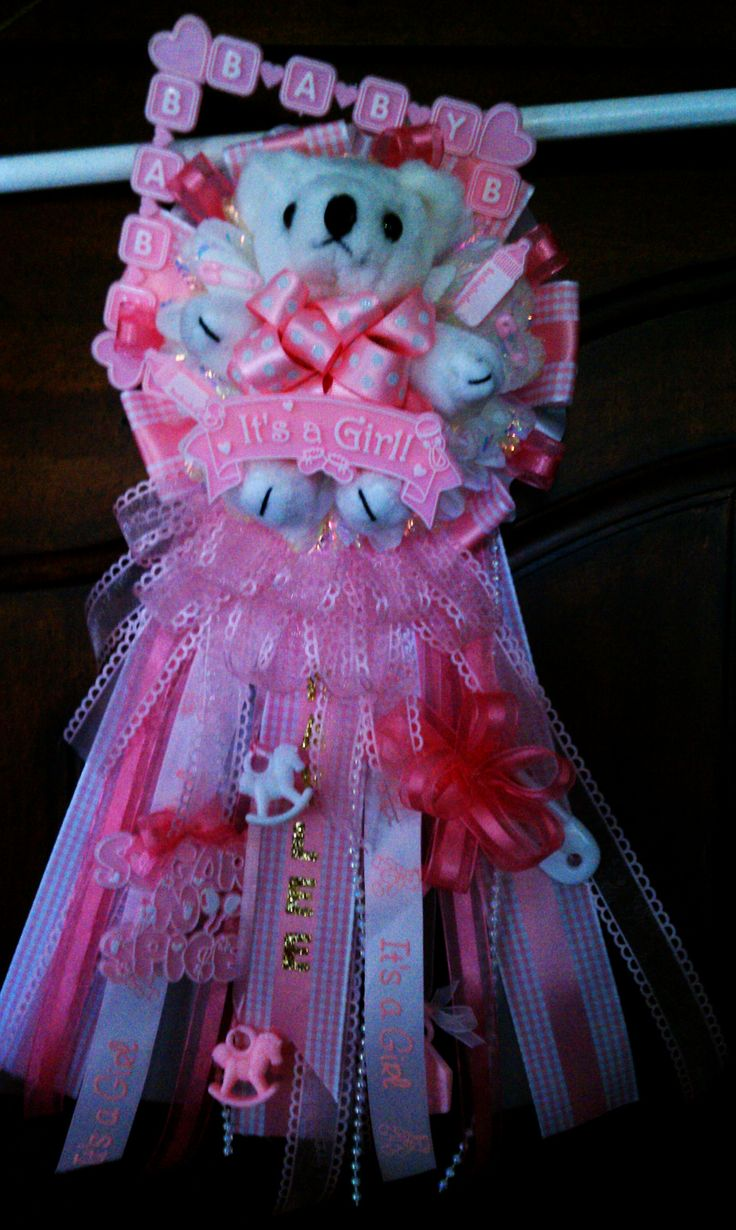 baby shower corsage girl mum holidays pinterest