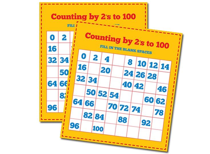 Count By 2s Worksheet | school stuff | Pinterest