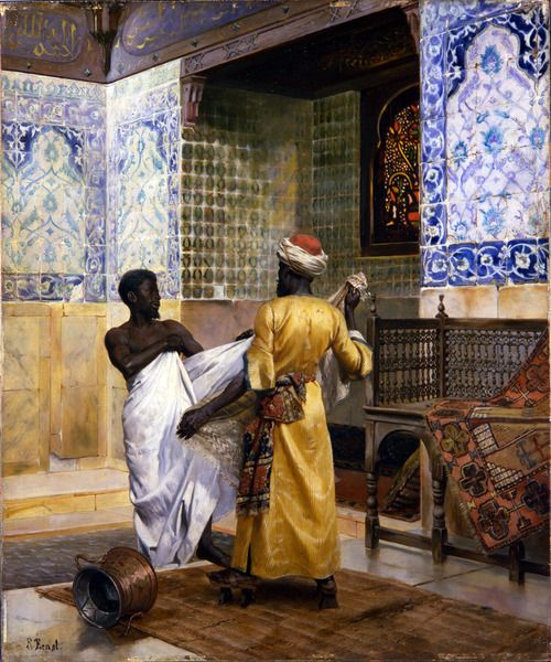 A Moor Robing After the Bath, Rudolph Ernst