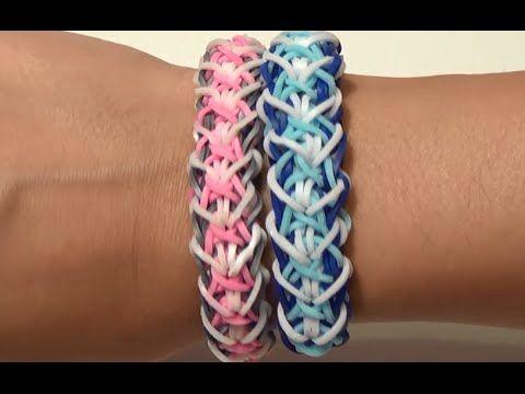 Can be made with most standard looms.  Плетение классного браслета на руку из резинок Rainbow Loom