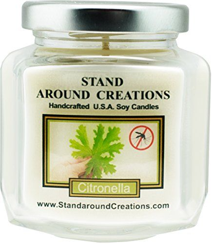 Premium 100 Soy Wax Candle  6  oz Hex Jar Scent  Citronella A natural insect repellent An effective way to keep mosquitoes away Infused woil of the citronella plant ** Be sure to check out this awesome product.
