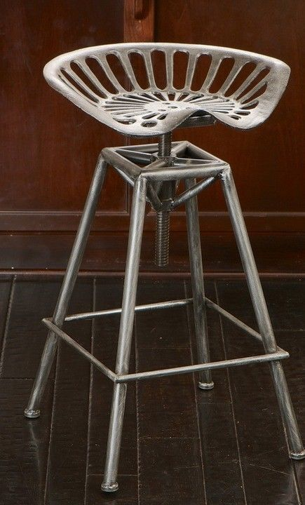 Iron Saddle Style Barstool Tractor Seat Bar Stool Metal Man Cave Outdoor Indoor $156.