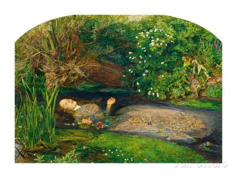 Ophélia, 1851-52 Art par John Everett Millais sur AllPosters.fr