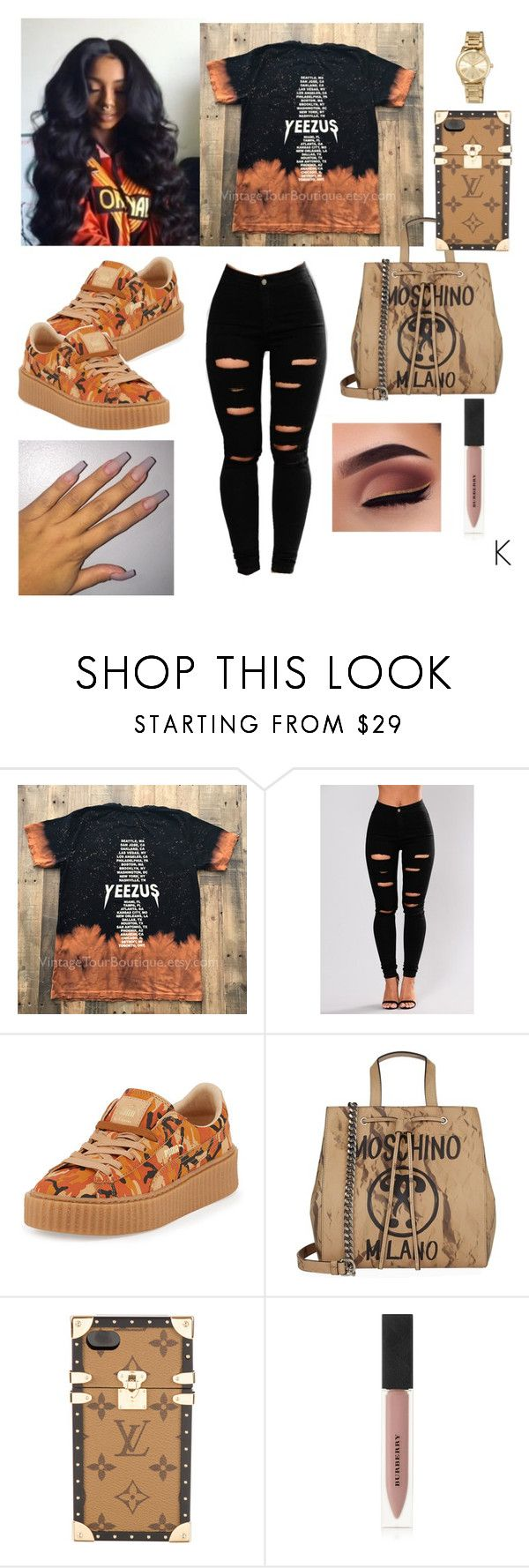 """"""""""" by xo-kyndahl-xo ❤ liked on Polyvore featuring Puma, Moschino, Louis Vuitton, Burberry and MICHAEL Michael Kors"""