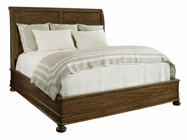 17 best images about beds on pinterest upholstered beds upholstered platform bed and furniture for Bernhardt vintage patina bedroom