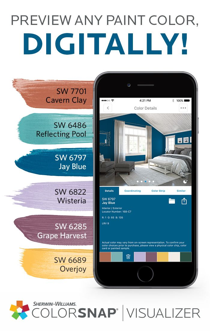 Pick Paint Colors App Style With Sherwin Williams The Colorsnap Paint Color Matching App Uses Your Android Or Iphone Smartphone To Match
