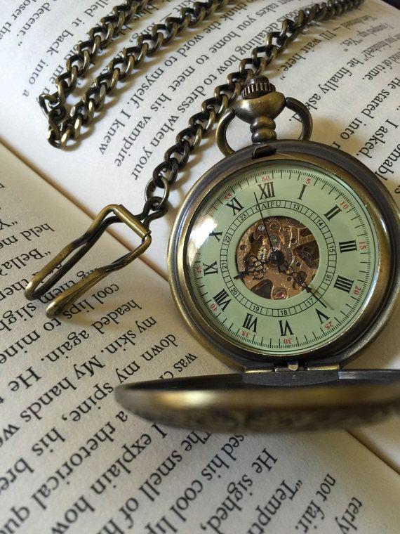 Personnalisé montre de poche montre de par EngravedPocketwatch