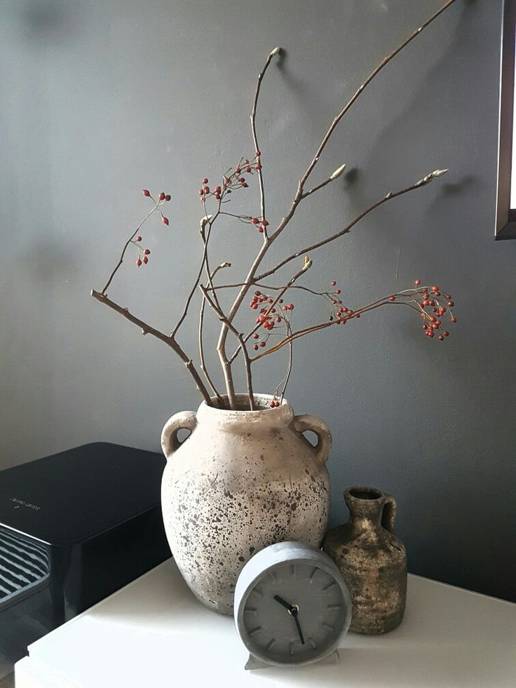 brynxz pot met rozenbotteltak en magnoliatak