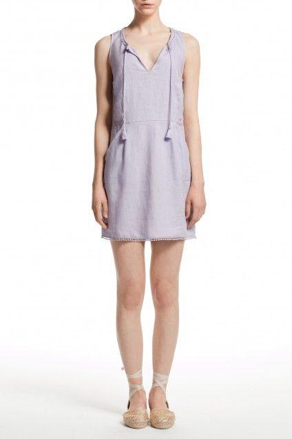 Galia Linen Bauble Trim Dress   | Calypso St. Barth