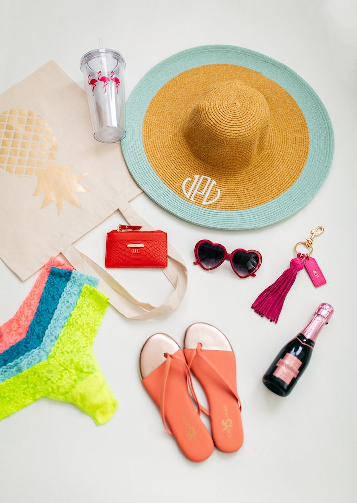 How to plan the perfect bachelorette beach trip by Louisiana based blogger, Jenn of Haute Off The Rack, bridal party gift ideas, party favor ideas,