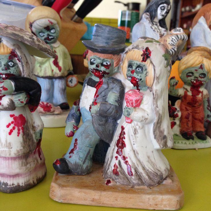 Altered figurine , #art #alteredart #kimblestar #kimdyson #zombie