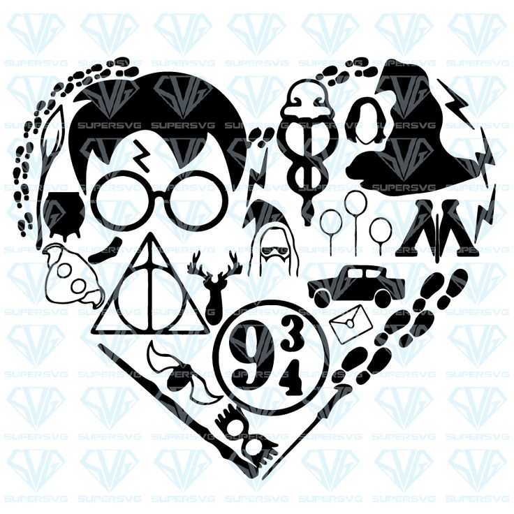 Download Harry Potter Love Heart SVG Files For Silhouette, Files ...