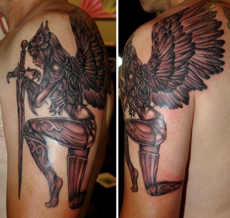 Valkyrie tattoo - 10ff68a3714876bafac5af3f9244fa2d.jpg (736×698)