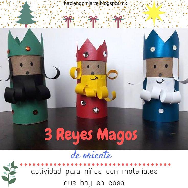 Los 3 Reyes Magos están por llegar, y lo mejor es hacer una actividad con materiales que tienes en casa, ve el tutorial: