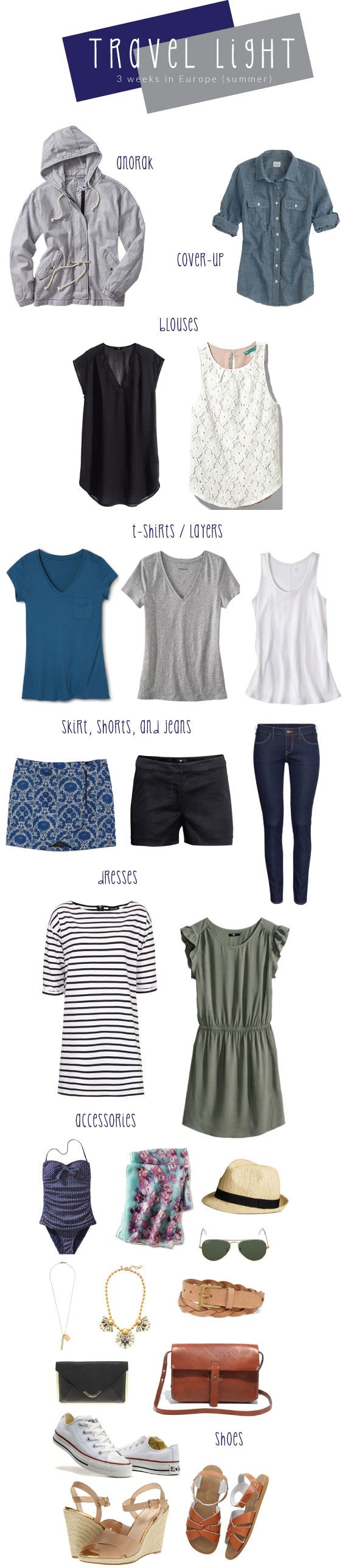 Packing light spring/summer- because I always overpack!