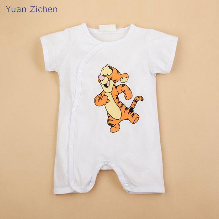 >> Click to Buy << Summer of 2017 Cartoon Tigger Short Sleeved Jumpsuit Baby Girls Boys Romper Bebek Clothing for Newborns Roupa Infantil Body-suit #Affiliate